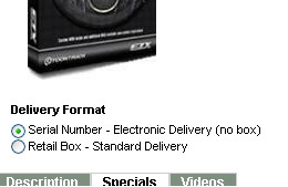 Serial Number - Electronic Delivery (no box)